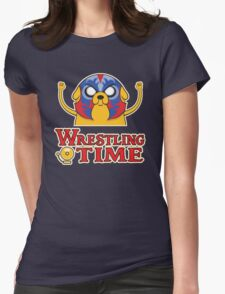 Wrestling Time Womens Fitted T-Shirt