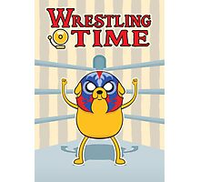 Wrestling Time Photographic Print