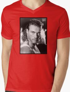 Jean Claude Van Damme Mens V-Neck T-Shirt