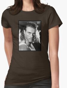Jean Claude Van Damme Womens Fitted T-Shirt