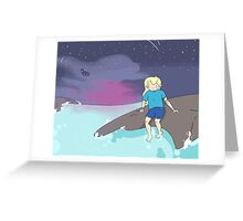 Adventure Time - Finn by the ocean Greeting Card
