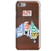 Aussie Number Plate Map #1 iPhone Case/Skin