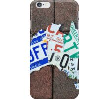 Aussie Number Plate Map #2 iPhone Case/Skin