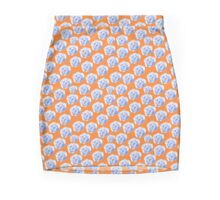 Blue roses on a bright orange background Mini Skirt
