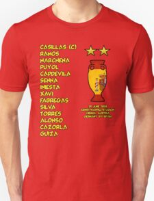 Spain 2008 Euro Winners Unisex T-Shirt