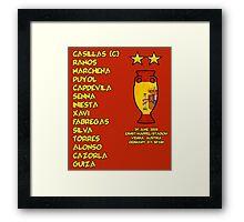 Spain 2008 Euro Winners Framed Print