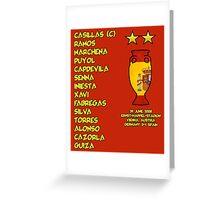 Spain 2008 Euro Winners Greeting Card