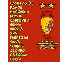 Spain 2008 Euro Winners Photographic Print