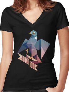 Pigeon Cult T-shirt femme moulant col V