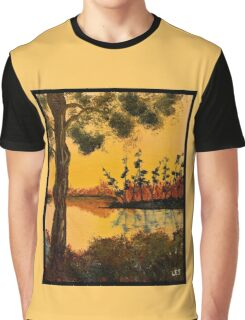 Bayou Sunset by Leslie Berg Graphic T-Shirt