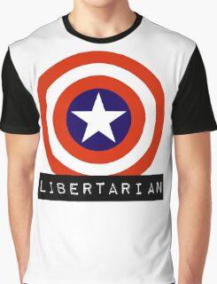 Libertarian America Capitalism Shield Freedom Graphic T-Shirt