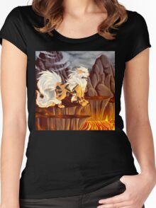 Arcanine's Volcanic Domain Women's Fitted Scoop T-Shirt