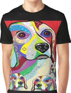 Beagle and Babies Graphic T-Shirt