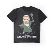 Walked by Faith (Moses) *WHITE TEXT* Graphic T-Shirt