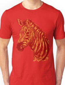 Zebra Sketch Sunset Unisex T-Shirt