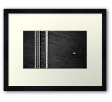 Barwon Heads Bridge - Abstract Aerial Framed Print