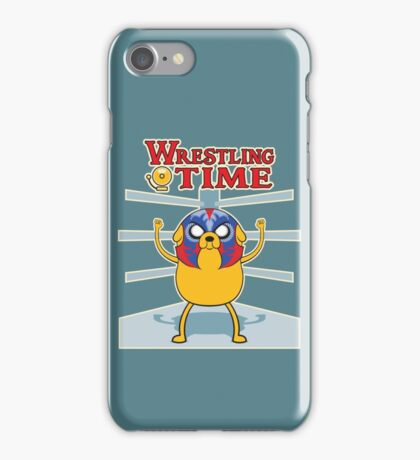 Wrestling time 2 iPhone Case/Skin