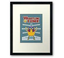 Wrestling time 2 Framed Print