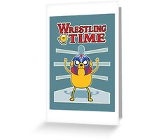Wrestling time 2 Greeting Card