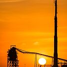 Sun Down Over Refinery by dcdigital