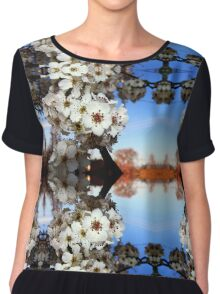 Ornamental Pear Flowers Chiffon Top