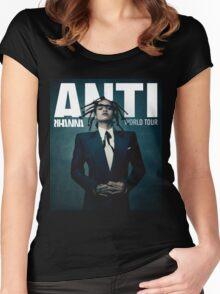 RIHANNA ANTI Women's Fitted Scoop T-Shirt
