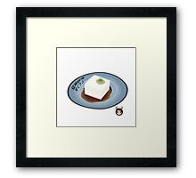 Boiled Tofu in Japanese Style Framed Print