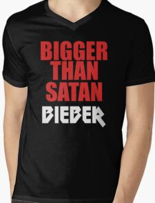 Bigger Than Satan Mens V-Neck T-Shirt