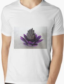 Zen Lily Mens V-Neck T-Shirt