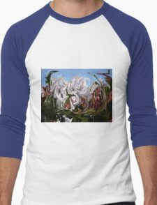 Floral Abstract Men's Baseball ¾ T-Shirt