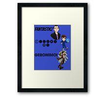 Tardis blue - doctors nine, ten and eleven.  Framed Print
