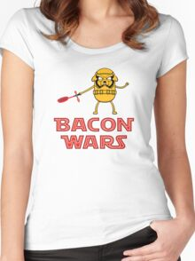 Bacon wars - Jake Women's Fitted Scoop T-Shirt