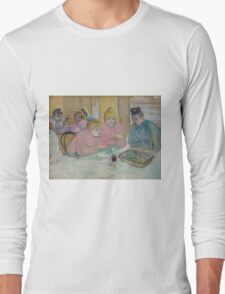 Henri de Toulouse-Lautrec  - These Ladies in the Dining Room (1893–1895) Long Sleeve T-Shirt