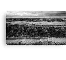 13th Beach Coastline in Black and White Canvas Print