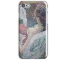 Henri de Toulouse-Lautrec  - The Model Resting (1889) Woman Portrait Fashion iPhone Case/Skin