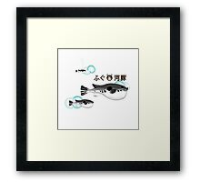 Fugu under the water Framed Print