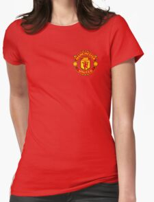 Manchester United Badge - BPL Womens Fitted T-Shirt