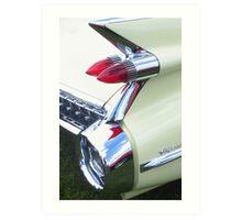Classic Car - Rear Lights Art Print