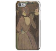 Henri de Toulouse-Lautrec  - La Goulue and Her Sister (c. 1892)Woman Portrait Fashion iPhone Case/Skin