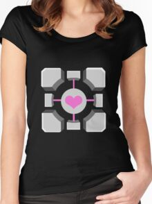 Portal - Companion Cube Women's Fitted Scoop T-Shirt
