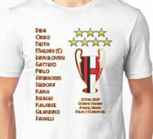 AC Milan 2007 Champions League Final Winners Unisex T-Shirt
