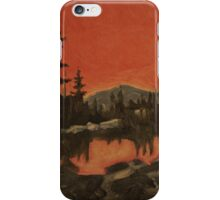 Monotype of a Reflection iPhone Case/Skin