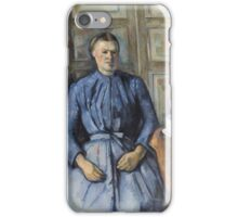 Paul Cezanne - Woman with a Coffeepot  1895 Woman Portrait  iPhone Case/Skin