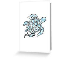 Phi Mu Sticker Greeting Card