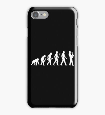 Funny Saxophone Evolution Of Man iPhone Case/Skin