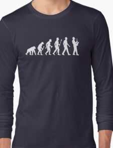 Funny Saxophone Evolution Of Man Long Sleeve T-Shirt