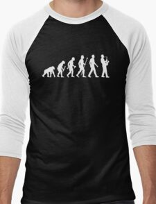Funny Saxophone Evolution Of Man Men's Baseball ¾ T-Shirt