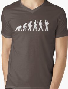 Funny Saxophone Evolution Of Man Mens V-Neck T-Shirt