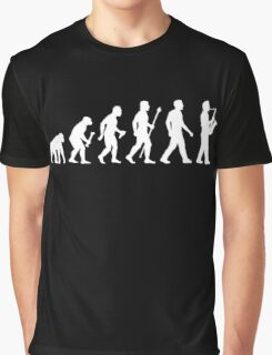 Funny Saxophone Evolution Of Man Graphic T-Shirt
