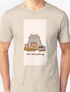 Pushen The Cat Eat Everything T-Shirt